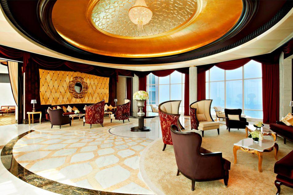 The St. Regis Abu Dhabi Luxury Hotel - Abu Dhabi, United Arab Emirates - Ultra Luxury Abu Dhabi Suite Living Room