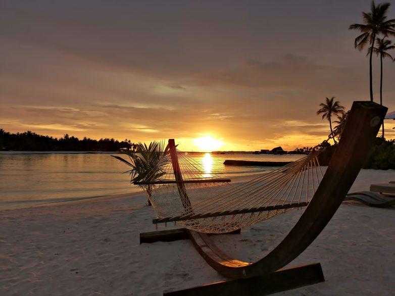 Cheval Blanc Randheli Luxury Resort - Noonu Atoll, Maldives - Private Beach Hammock Sunset