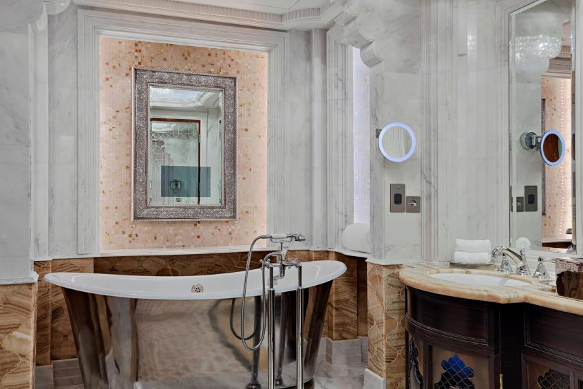 The St. Regis Abu Dhabi Luxury Hotel - Abu Dhabi, United Arab Emirates - Al Mushref Suite Bathroom