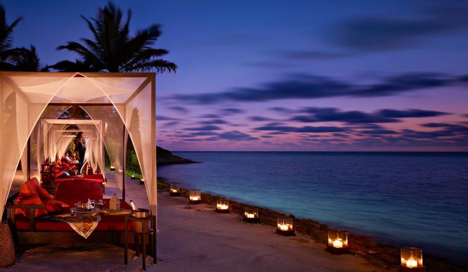 One&Only Reethi Rah Luxury Resort - North Male Atoll, Maldives - Beach Cabanas Twilight