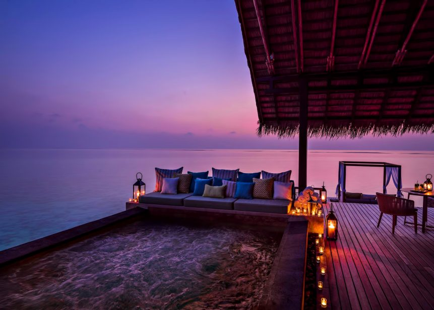 One&Only Reethi Rah Luxury Resort - North Male Atoll, Maldives - Overwater Villa Pool Sunset