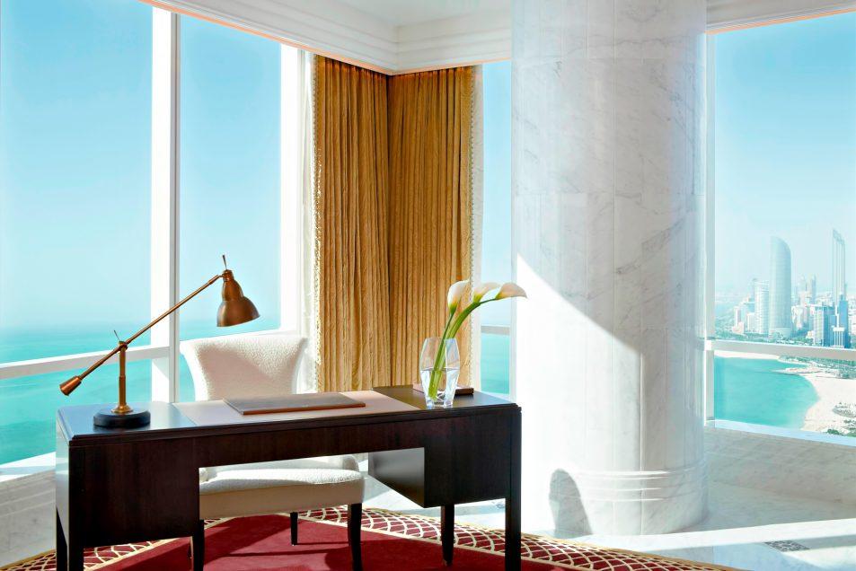 The St. Regis Abu Dhabi Luxury Hotel - Abu Dhabi, United Arab Emirates - Al Hosen Suite Desk Ocean View