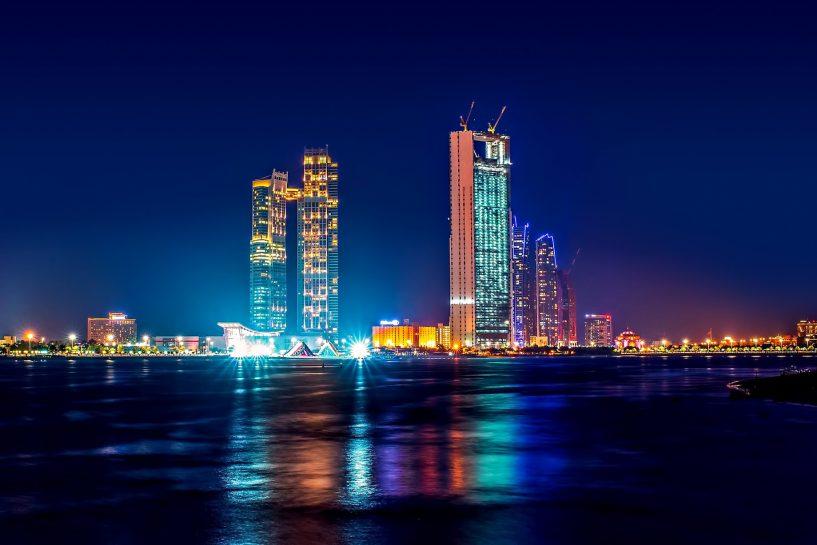 The St. Regis Abu Dhabi Luxury Hotel - Abu Dhabi, United Arab Emirates - Neon Night Lights
