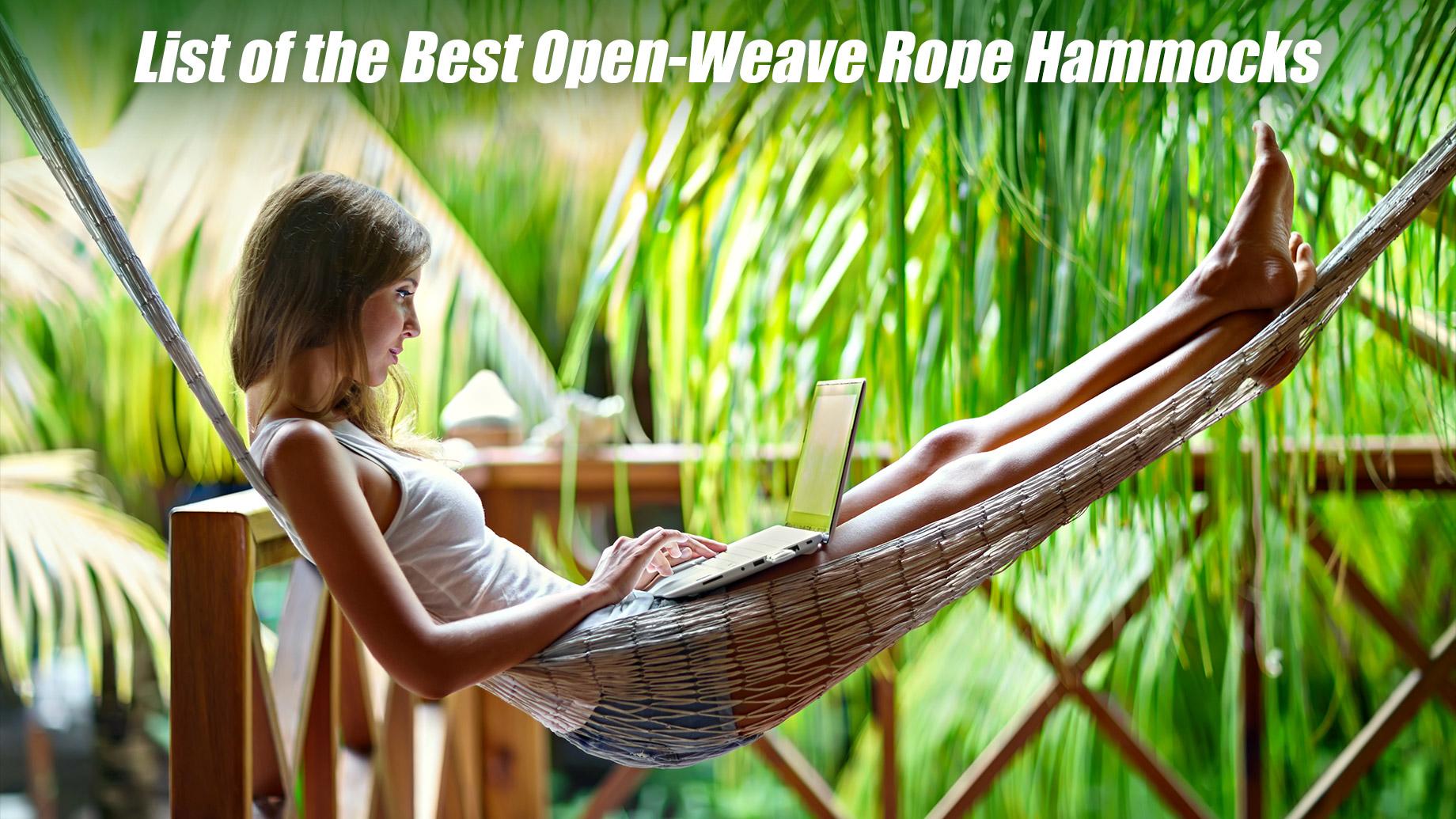 List of the Best Open-Weave Rope Hammocks