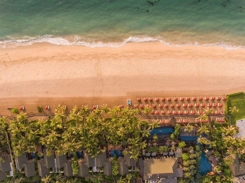 The St. Regis Bali Luxury Resort - Bali, Indonesia - Resort Beach Overhead Aerial View