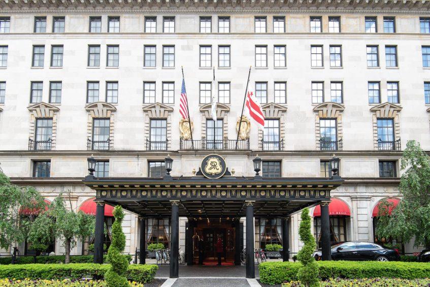 The St. Regis Washington D.C. Luxury Hotel - Washington, DC, USA - Exterior Front Lobby Entrance