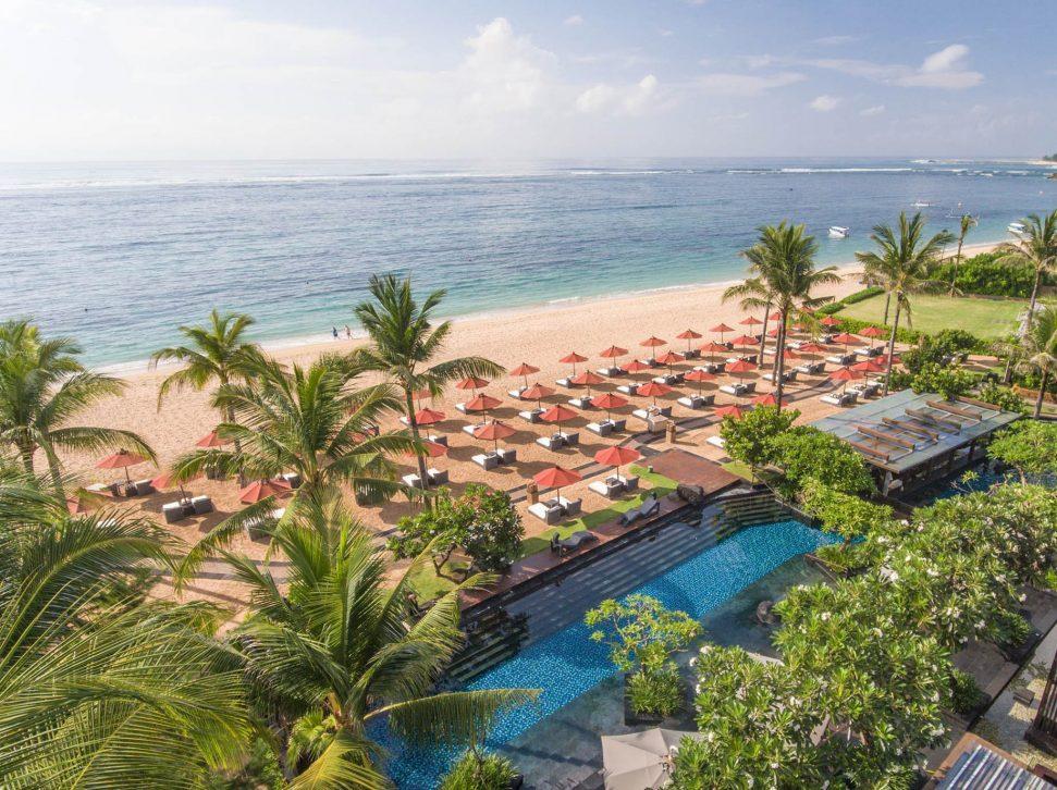 The St. Regis Bali Luxury Resort - Bali, Indonesia - Resort Beach Aerial View