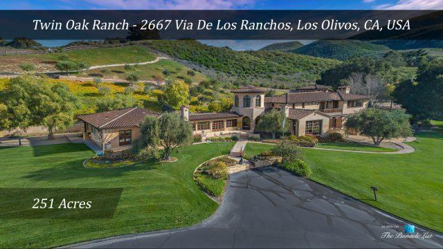 Spectacular 251 Acre Twin Oak Ranch - 2667 Via De Los Ranchos, Los Olivos, CA, USA