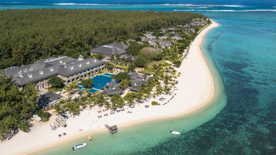 The St. Regis Mauritius Luxury Resort - Mauritius - Resort Beach Aerial View