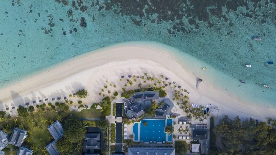 The St. Regis Mauritius Luxury Resort - Mauritius - Resort Beach Aerial Overhead View