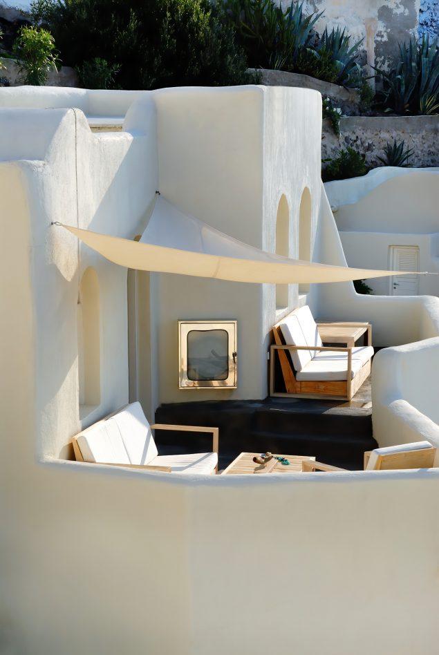 Mystique Luxury Hotel Santorini – Oia, Santorini Island, Greece - Clifftop Balcony