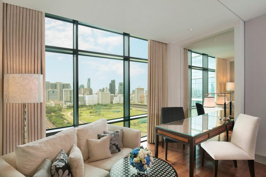 The St. Regis Bangkok Luxury Hotel - Bangkok, Thailand - Double Grand Deluxe Guest Room Golf Course View