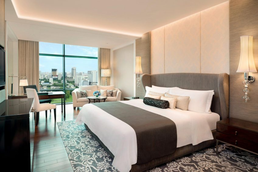The St. Regis Bangkok Luxury Hotel - Bangkok, Thailand - King Grand Deluxe Guest Room Golf Course View
