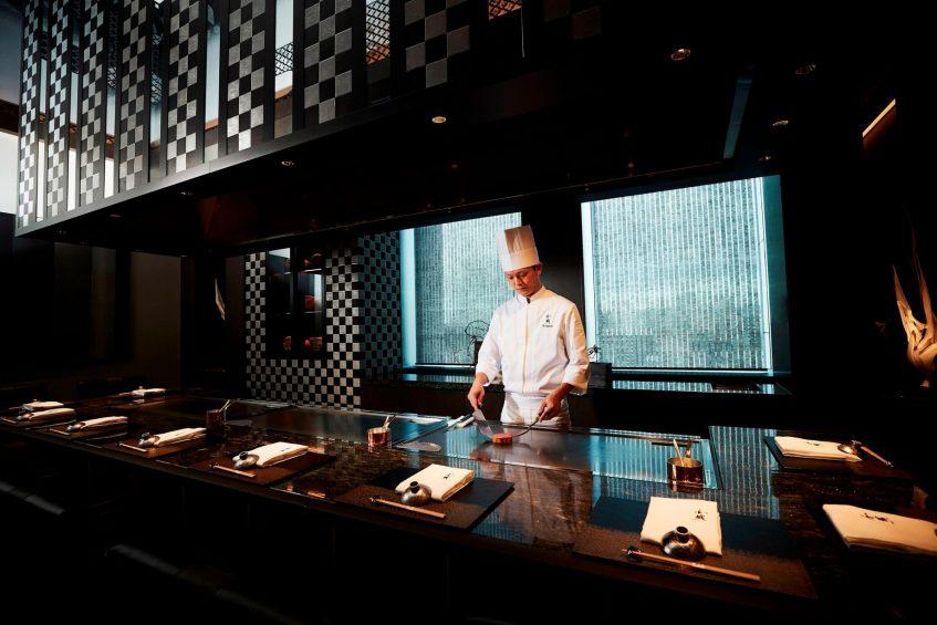 The St. Regis Osaka Luxury Hotel - Osaka, Japan - Teppanyaki Restaurant WAJO Chef Yutaka Nogami