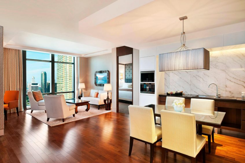 The St. Regis Bangkok Luxury Hotel - Bangkok, Thailand - Two-Bedroom Suite Living Room