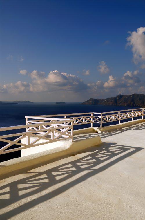 Mystique Luxury Hotel Santorini – Oia, Santorini Island, Greece - Exterior Walkway Railing