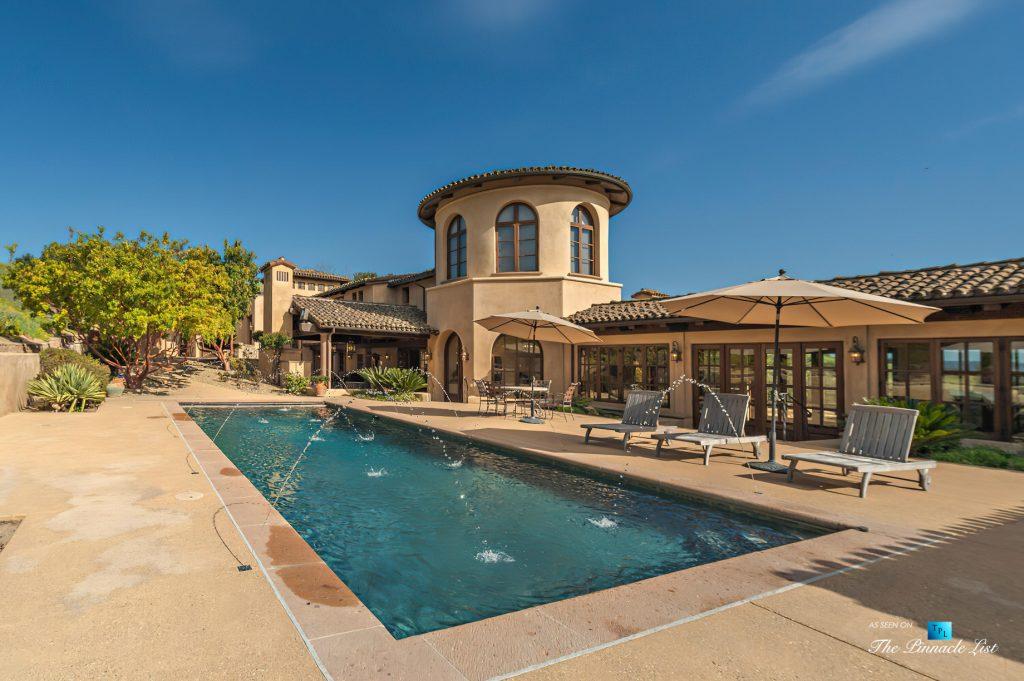 Spectacular 251 Acre Twin Oak Ranch - 2667 Via De Los Ranchos, Los Olivos, CA, USA - Italian Villa Residence Exterior Pool
