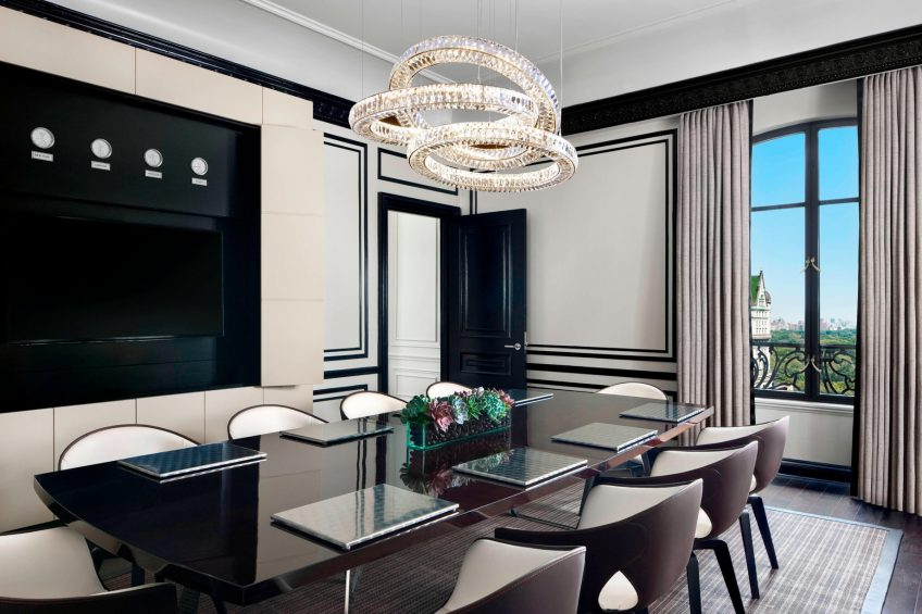 The St. Regis New York Luxury Hotel - New York, NY, USA - Bentley Suite Dining Area