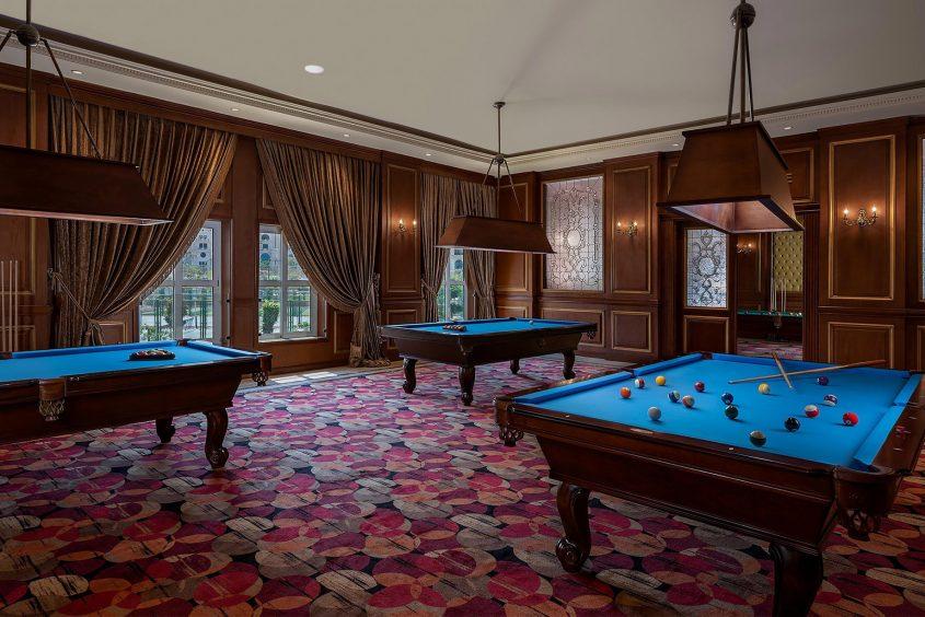 The St. Regis Almasa Luxury Hotel - Cairo, Egypt - Billiard Lounge