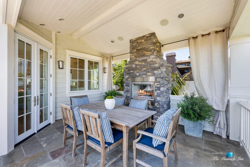 877 8th Street, Manhattan Beach, CA, USA - Covered Top Level Patio Fireplace with Table and Chairs
