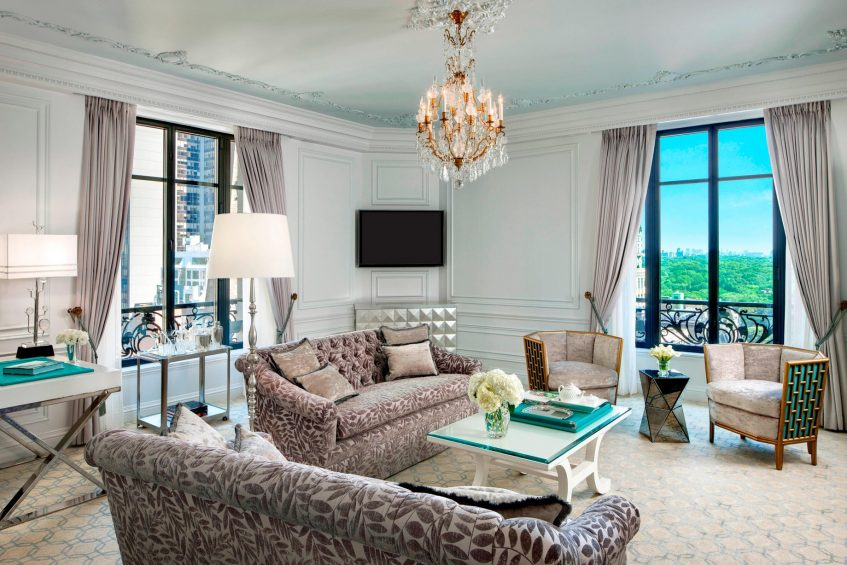 The St. Regis New York Luxury Hotel - New York, NY, USA - Tiffany Suite Living Area