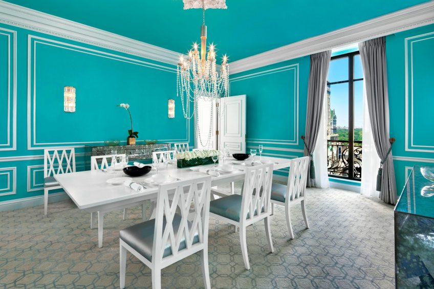 The St. Regis New York Luxury Hotel - New York, NY, USA - Tiffany Suite Dining Area with Central Park View