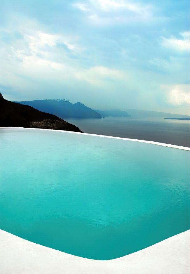 Mystique Luxury Hotel Santorini – Oia, Santorini Island, Greece - Clifftop Infinity Pool View