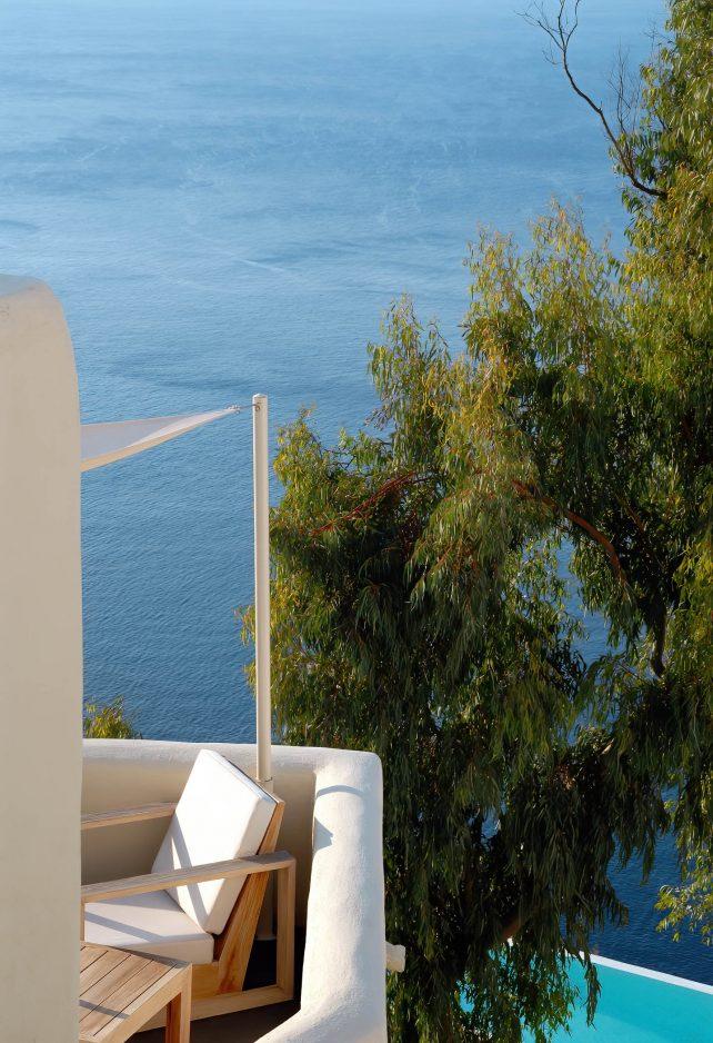 Mystique Luxury Hotel Santorini – Oia, Santorini Island, Greece - Ocean View Patio Deck