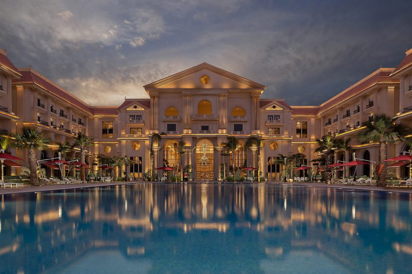 The St. Regis Almasa Luxury Hotel - Cairo, Egypt - Outdoor Swimming Pool Twilight