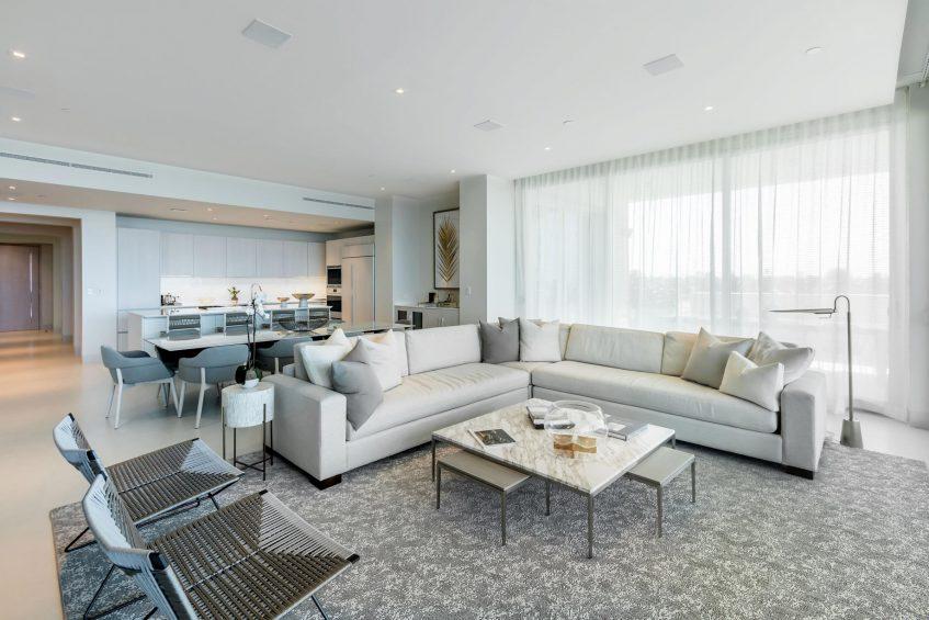 The St. Regis Bahia Beach Luxury Resort - Rio Grande, Puerto Rico - Ocean Drive Residences First Level Interior Living