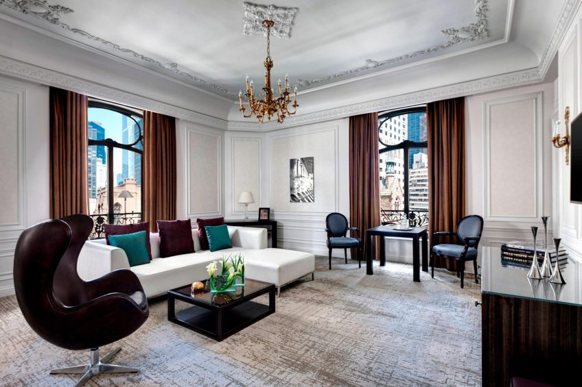 The St. Regis New York Luxury Hotel - New York, NY, USA - Milano Suite Living Area