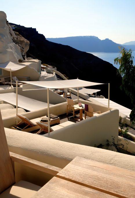 Mystique Luxury Hotel Santorini – Oia, Santorini Island, Greece - Clifftop Deck Terraces