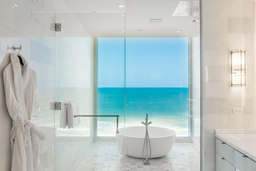 The St. Regis Bahia Beach Luxury Resort - Rio Grande, Puerto Rico - Ocean Drive Residences Master Shower and Tub