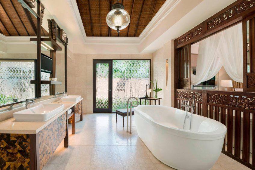 The St. Regis Bali Luxury Resort - Bali, Indonesia - Gardenia and Lagoon Villa Guest Bathroom