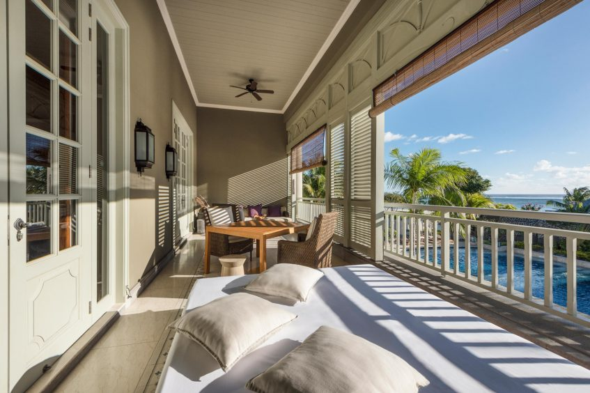 The St. Regis Mauritius Luxury Resort - Mauritius - Manor House Spa Suite Terrace Overlooking the Pool and Ocean