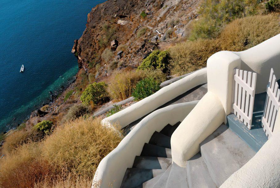 Mystique Luxury Hotel Santorini – Oia, Santorini Island, Greece - Clifftop Oceanview Stairs