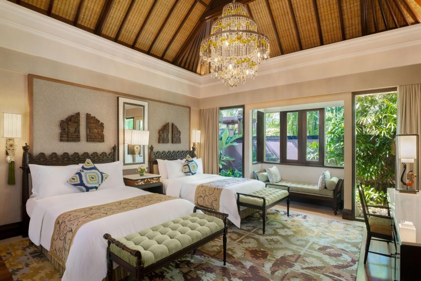 The St. Regis Bali Luxury Resort - Bali, Indonesia - Lagoon Villa Twin Bedroom