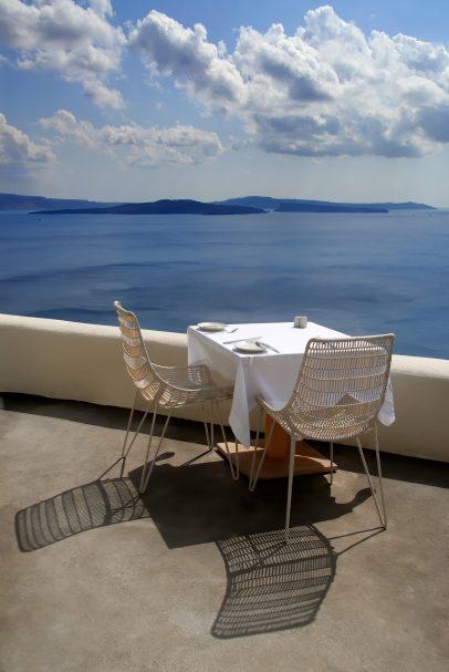 Mystique Luxury Hotel Santorini – Oia, Santorini Island, Greece - Clifftop Ocean View Dining