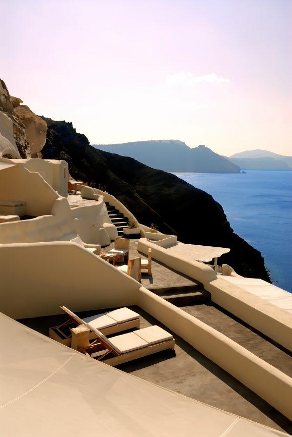 Mystique Luxury Hotel Santorini – Oia, Santorini Island, Greece - Clifftop Ocean View Deck