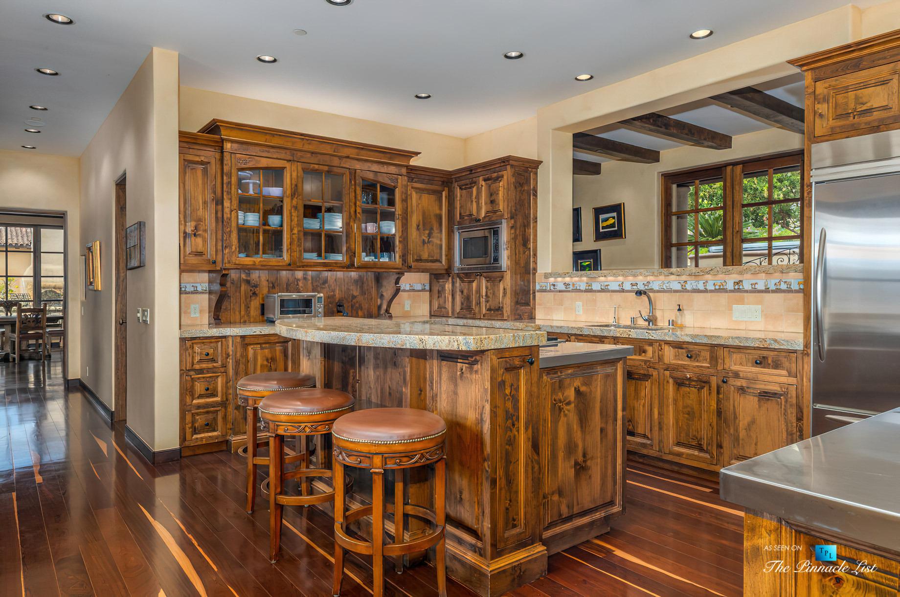 Spectacular 251 Acre Twin Oak Ranch – 2667 Via De Los Ranchos, Los Olivos, CA, USA – Italian Villa Residence Kitchen