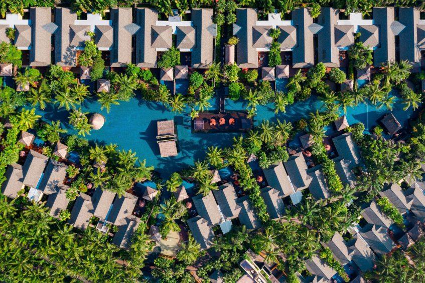 The St. Regis Bali Luxury Resort - Bali, Indonesia - Lagoon Area and Villas Overhead Aerial View