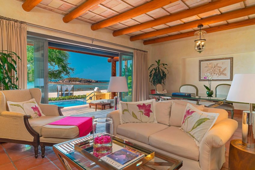 The St. Regis Punta Mita Luxury Resort - Nayarit, Mexico - One Bedroom Villa Living Room Ocean View