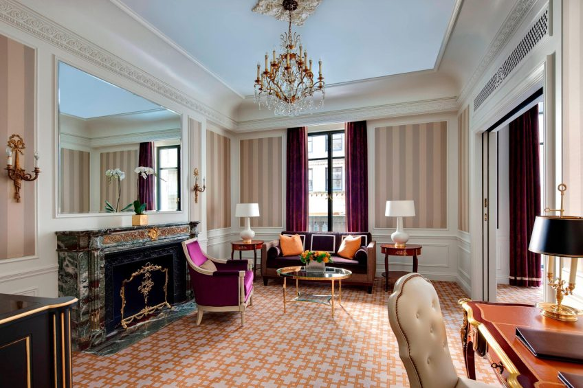 The St. Regis New York Luxury Hotel - New York, NY, USA - Deluxe Suite Living Area