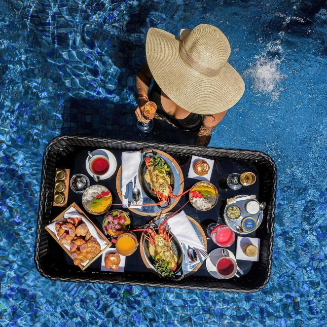 The St. Regis Bali Luxury Resort - Bali, Indonesia - Lagoon Pool Floating Food Tray