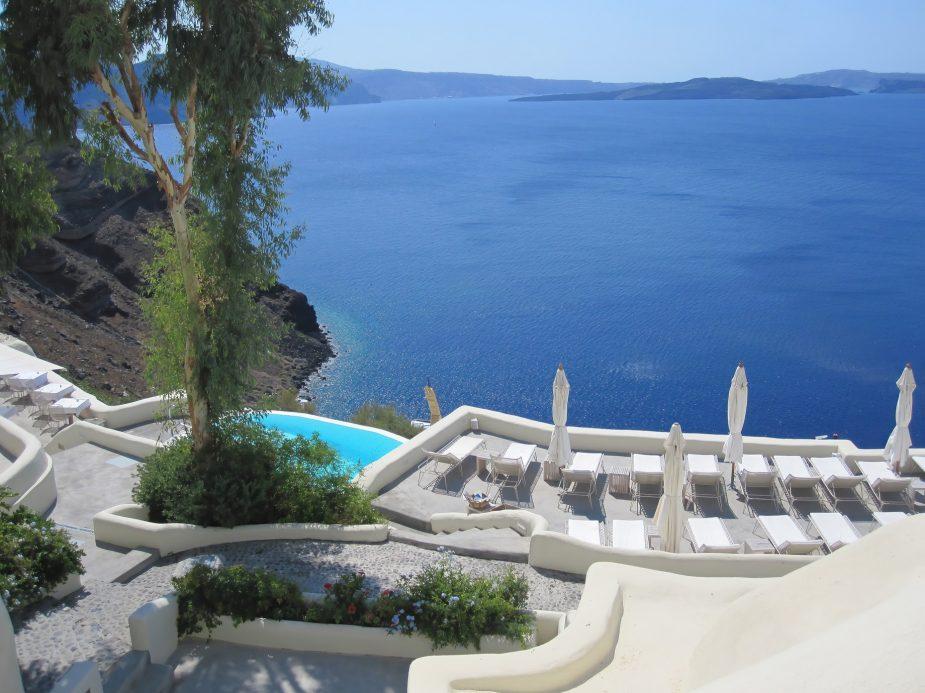 Mystique Luxury Hotel Santorini – Oia, Santorini Island, Greece - Mystique Ocean View Pool Deck