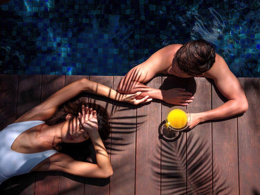 The St. Regis Bali Luxury Resort - Bali, Indonesia - Lagoon Pool Sun Deck