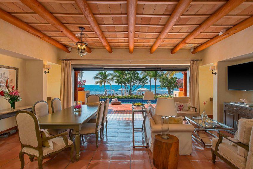 The St. Regis Punta Mita Luxury Resort - Nayarit, Mexico - 3 Bedroom Villa Living Room and Dining Room