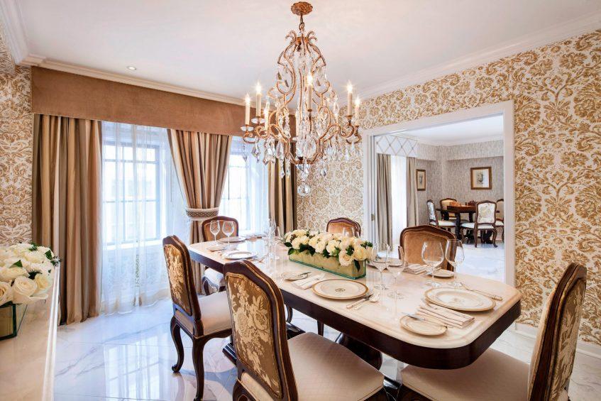 The St. Regis Washington D.C. Luxury Hotel - Washington, DC, USA - Presidential Suite Dining Area