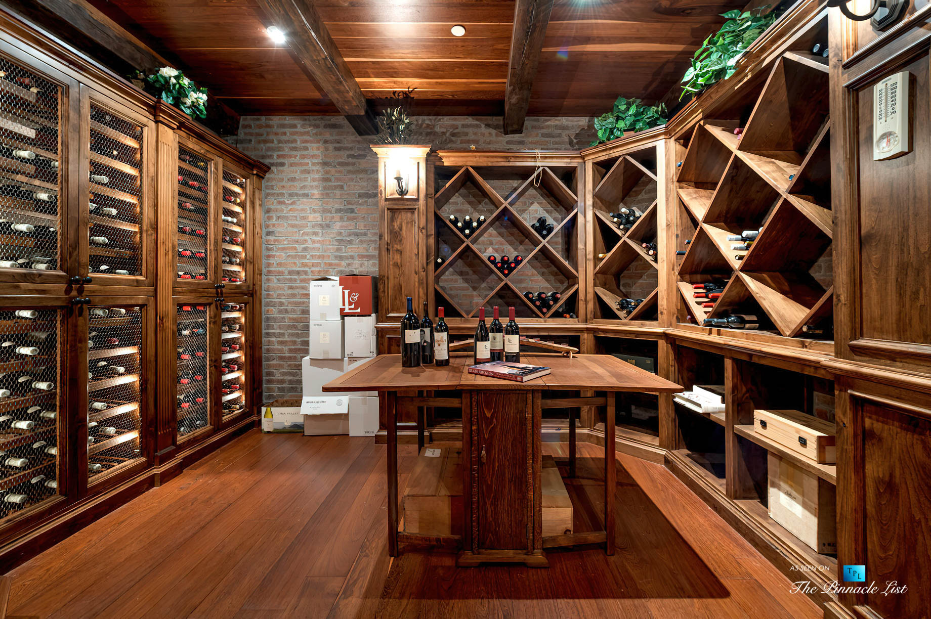 Spectacular 251 Acre Twin Oak Ranch - 2667 Via De Los Ranchos, Los Olivos, CA, USA - Italian Villa Residence Wine Room