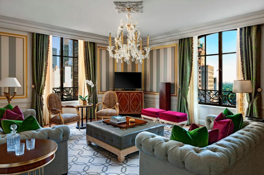 The St. Regis New York Luxury Hotel - New York, NY, USA - Royal Suite Living Area